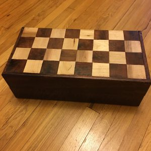 Mahogany Chess Box